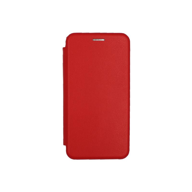 Θήκη Samsung Galaxy J3 2017 Πορτοφόλι με Μαγνητικό Κλείσιμο κόκκινο 1