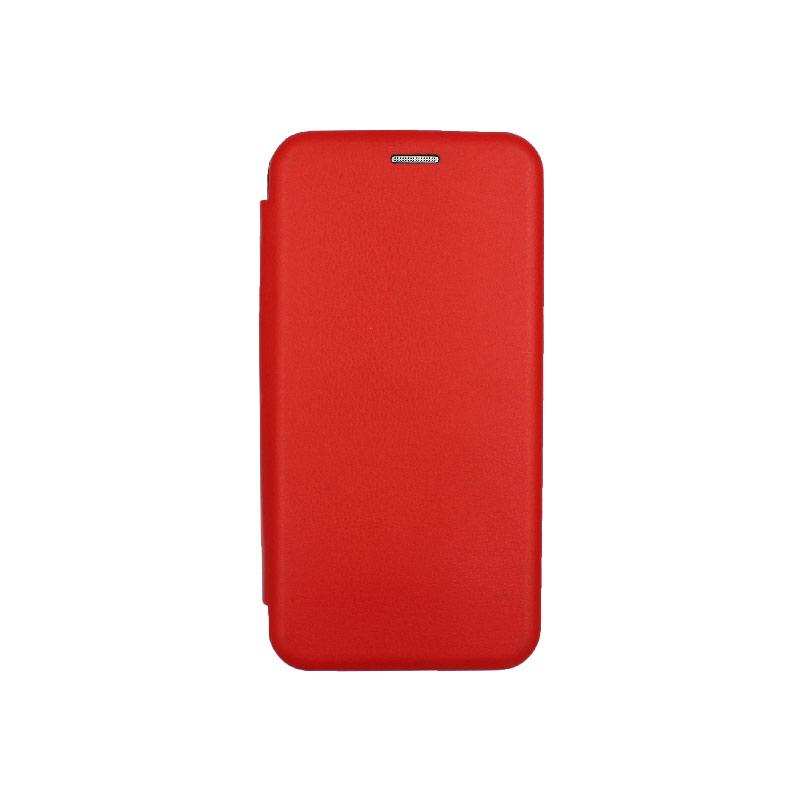Θήκη Samsung Galaxy A10 / M10 Πορτοφόλι Με Μαγνητικό Κλείσιμο κόκκινο 1