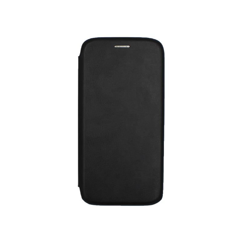 Θήκη Samsung Galaxy A5 / Α8 2018 Πορτοφόλι με Μαγνητικό Κλείσιμο μαύρο 1