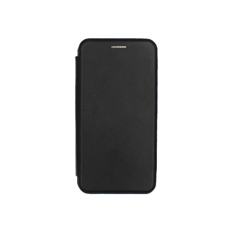 Θήκη Samsung Galaxy A40 Πορτοφόλι με Μαγνητικό Κλείσιμο μαύρο 1