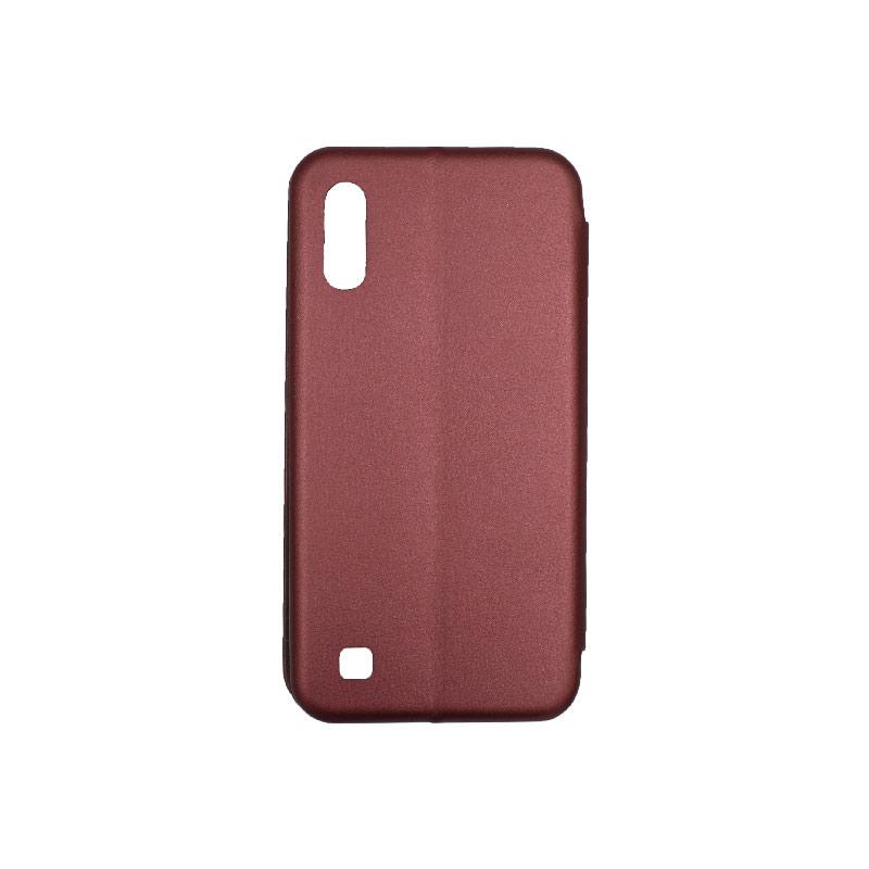 Θήκη Samsung Galaxy A10 / M10 Πορτοφόλι Με Μαγνητικό Κλείσιμο μπορντό 2