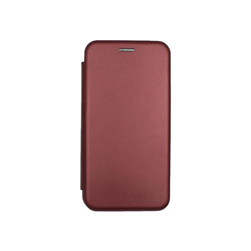Θήκη Samsung Galaxy A10 / M10 Πορτοφόλι Με Μαγνητικό Κλείσιμο μπορντό 1