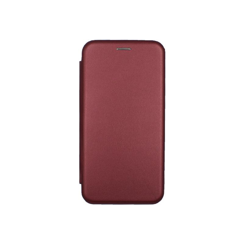 Θήκη iPhone 7 Plus / 8 Plus Πορτοφόλι με Μαγνητικό Κλείσιμο μπορντό 1