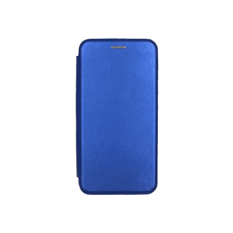 Θήκη Samsung Galaxy A40 Πορτοφόλι με Μαγνητικό Κλείσιμο μπλε 1
