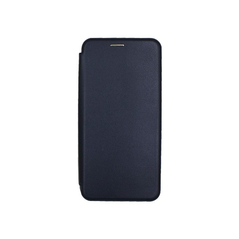 Θήκη Samsung Galaxy A6 Plus / J8 2018 Πορτοφόλι με Μαγνητικό Κλείσιμο μπλε 1