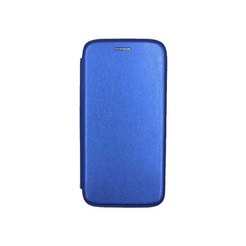 Θήκη Samsung Galaxy A6 Πορτοφόλι με Μαγνητικό Κλείσιμο μπλε 1