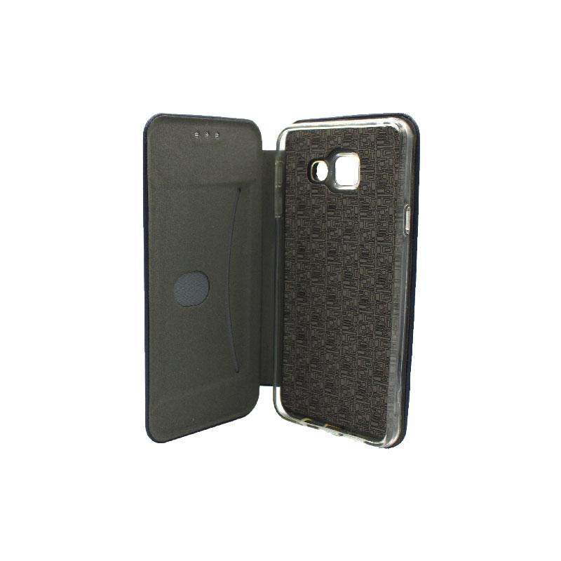 Θήκη Samsung Galaxy A5 2017 Πορτοφόλι με Μαγνητικό Κλείσιμο μπλε 3