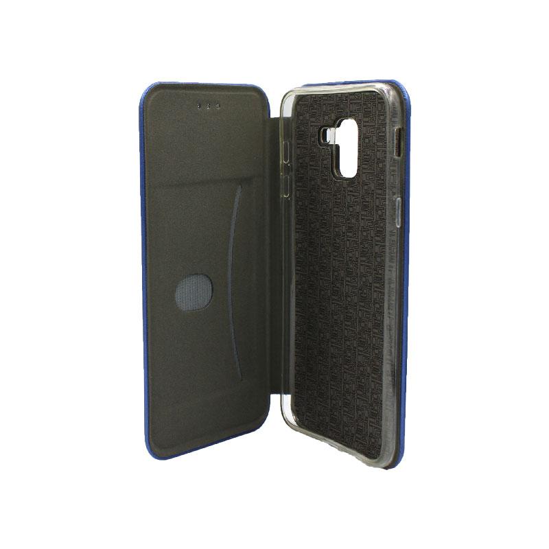 Θήκη Samsung Galaxy J6 Πορτοφόλι με Μαγνητικό Κλείσιμο μπλε 3