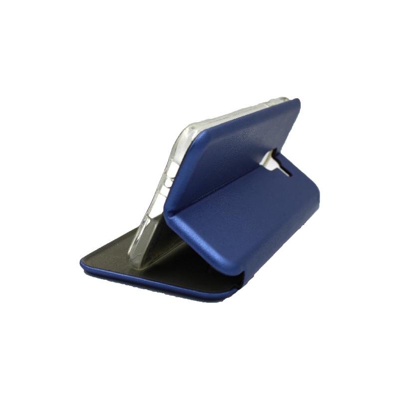Θήκη Samsung Galaxy J6 Πορτοφόλι με Μαγνητικό Κλείσιμο μπλε 4