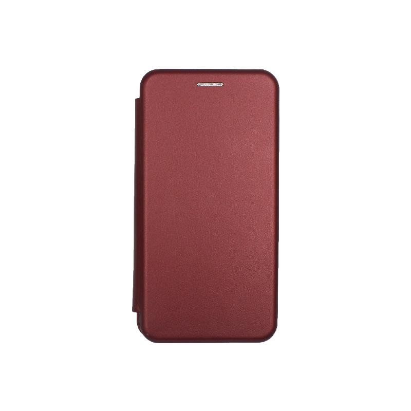 Θήκη Samsung Galaxy A40 Πορτοφόλι με Μαγνητικό Κλείσιμο μπορντό 1