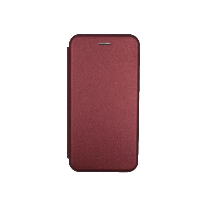 Θήκη Samsung Galaxy J6 Plus Πορτοφόλι με Μαγνητικό Κλείσιμο μπορντό 1