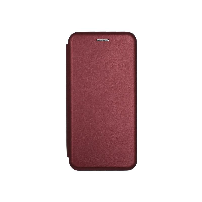 Θήκη Samsung Galaxy J6 Πορτοφόλι με Μαγνητικό Κλείσιμο μπορντό 1