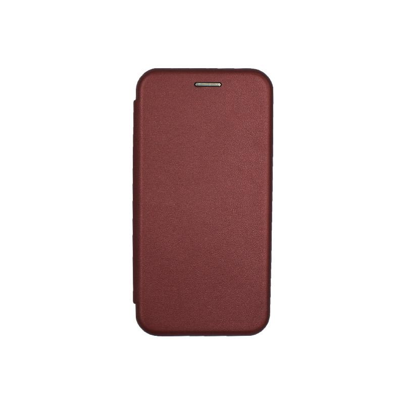 Θήκη Samsung Galaxy J3 2017 Πορτοφόλι με Μαγνητικό Κλείσιμο μπορντό 1