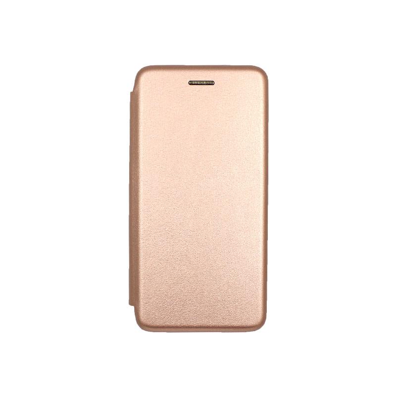 Θήκη Samsung Galaxy A10e / A20e Πορτοφόλι με Μαγνητικό Κλείσιμο ροζ χρυσό 1