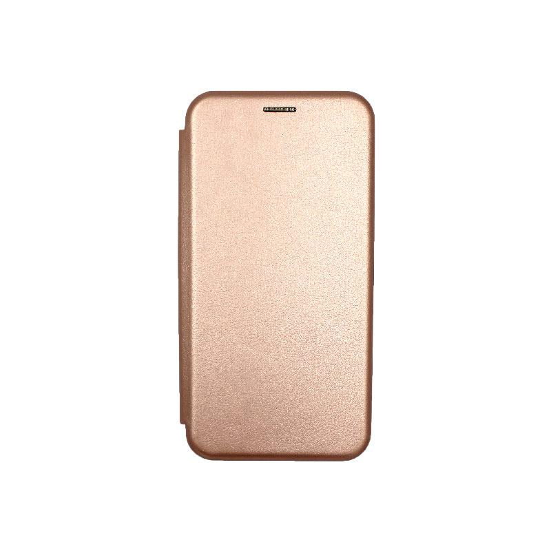 Θήκη Samsung Galaxy J4 Plus Πορτοφόλι με Μαγνητικό Κλείσιμο ροζ χρυσό 1