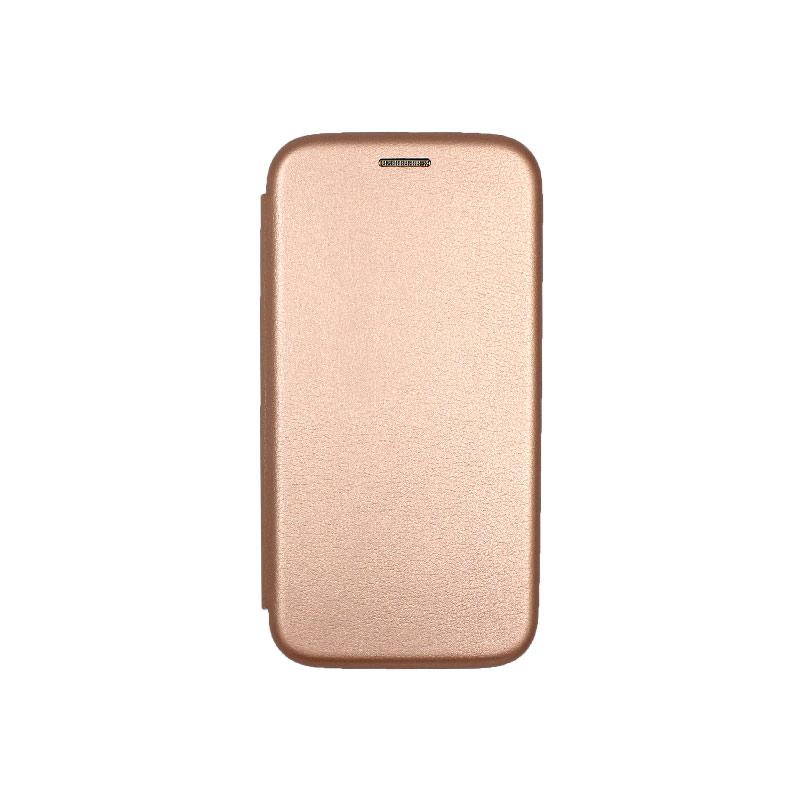 Θήκη Samsung Galaxy J3 2017 Πορτοφόλι με Μαγνητικό Κλείσιμο ροζ χρυσό 1