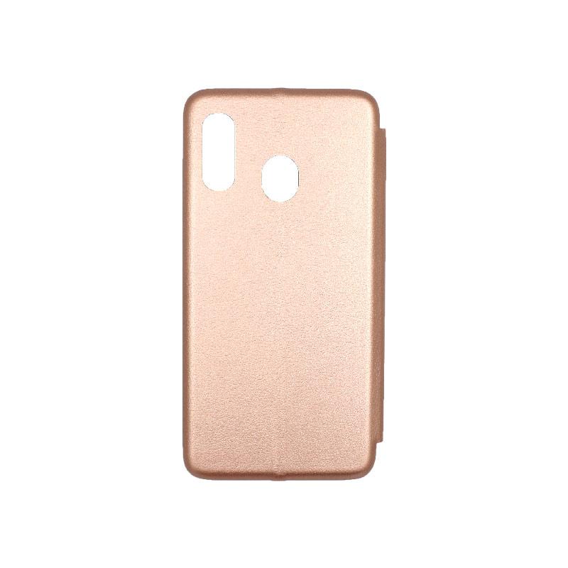 Θήκη Samsung Galaxy A10e / A20e Πορτοφόλι με Μαγνητικό Κλείσιμο ροζ χρυσό 2