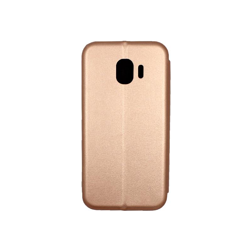 Θήκη Samsung Galaxy J2 Pro Πορτοφόλι με Μαγνητικό Κλείσιμο ροζ χρυσό 2