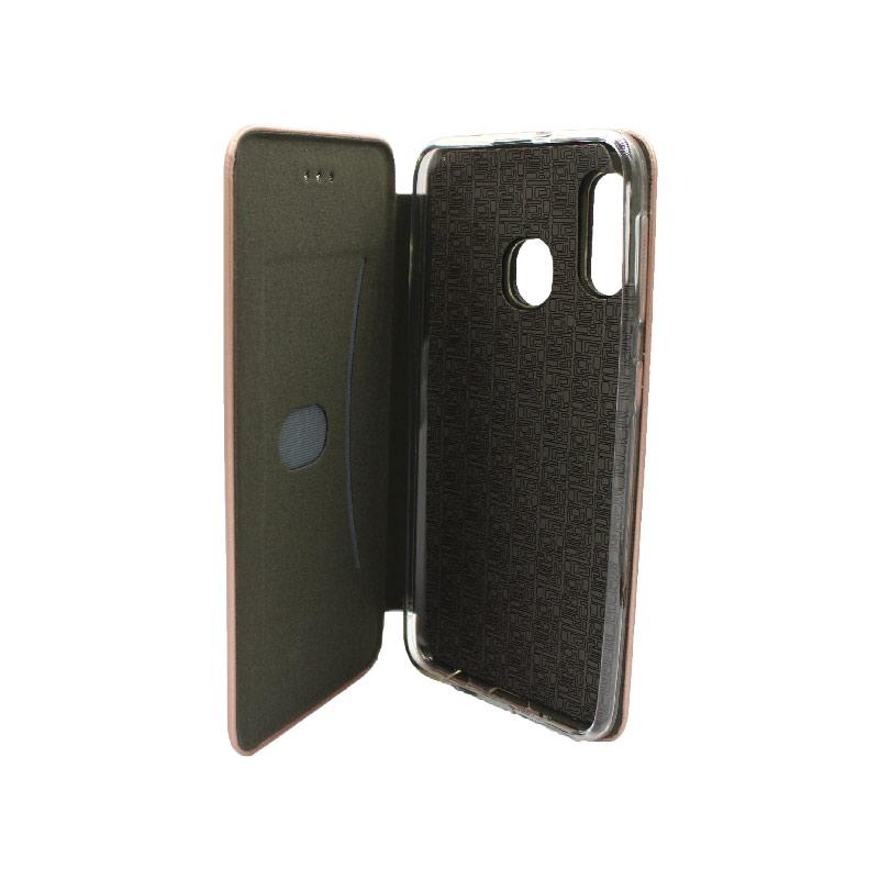 Θήκη Samsung Galaxy A10e / A20e Πορτοφόλι με Μαγνητικό Κλείσιμο ροζ χρυσό 3
