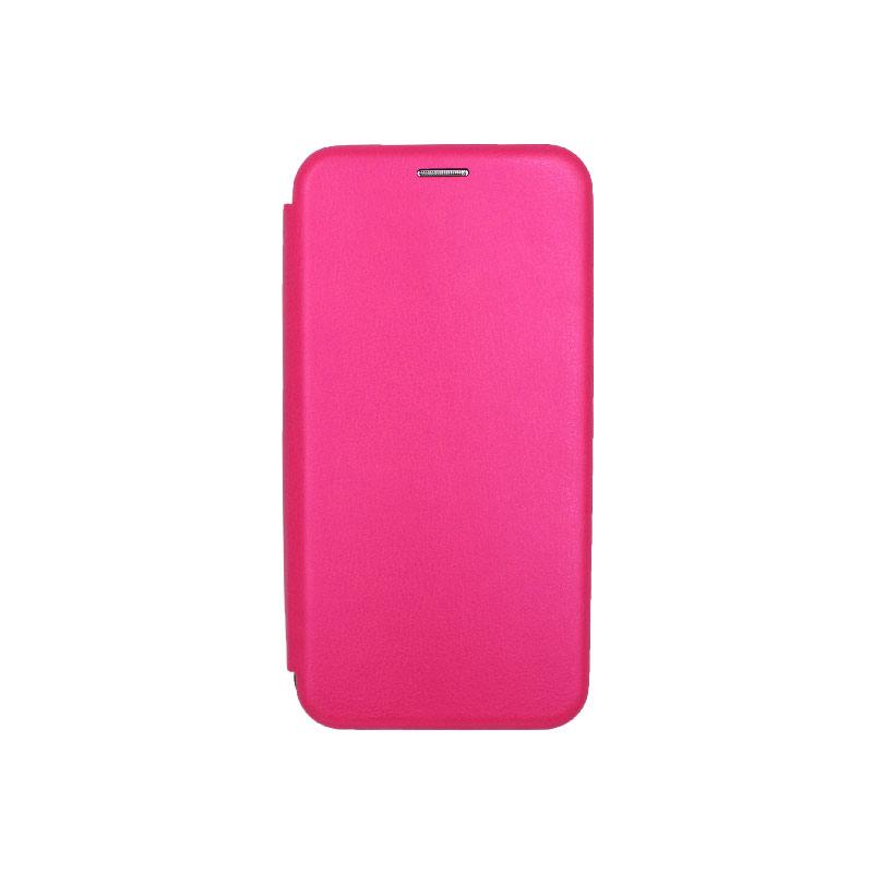 Θήκη Samsung Galaxy A7 2018 Πορτοφόλι με Μαγνητικό Κλείσιμο ροζ 1