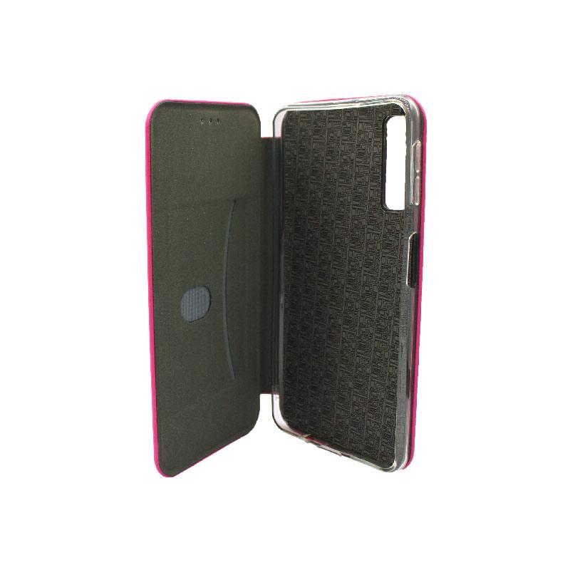 Θήκη Samsung Galaxy A7 2018 Πορτοφόλι με Μαγνητικό Κλείσιμο ροζ 3