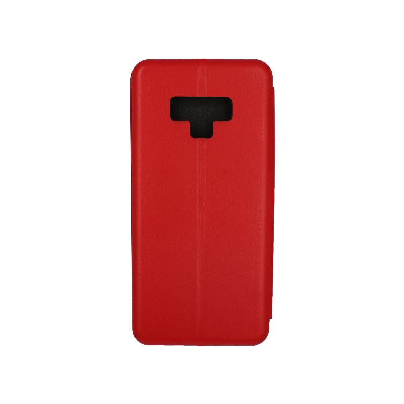 Θήκη Samsung Galaxy Note 9 Πορτοφόλι με Μαγνητικό Κλείσιμο κόκκινο 2