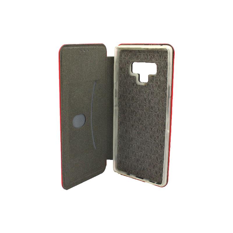 Θήκη Samsung Galaxy Note 9 Πορτοφόλι με Μαγνητικό Κλείσιμο κόκκινο 3