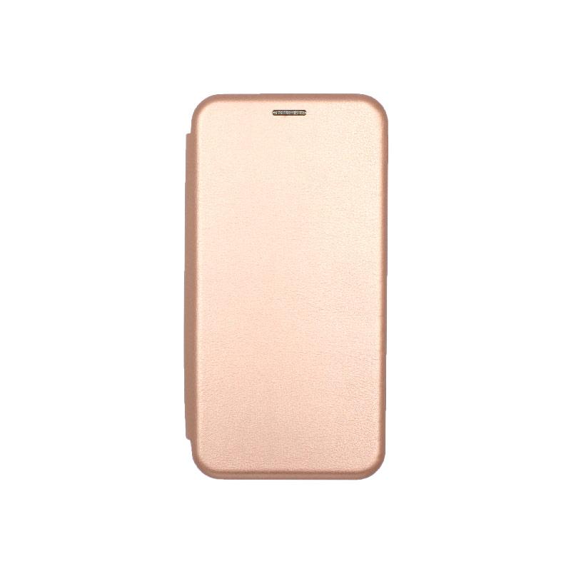 Θήκη Samsung Galaxy A6 Plus / J8 2018 Πορτοφόλι με Μαγνητικό Κλείσιμο ροζ χρυσό 1