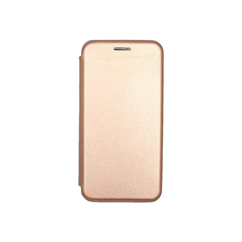 Θήκη Samsung Galaxy A3 2016 Πορτοφόλι με Μαγνητικό Κλείσιμο ροζ χρυσό 1