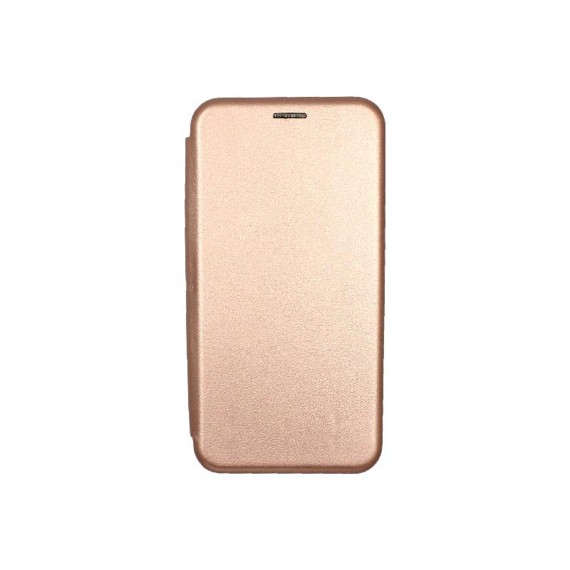 Θήκη Samsung Galaxy J6 Plus Πορτοφόλι με Μαγνητικό Κλείσιμο ροζ χρυσό 1