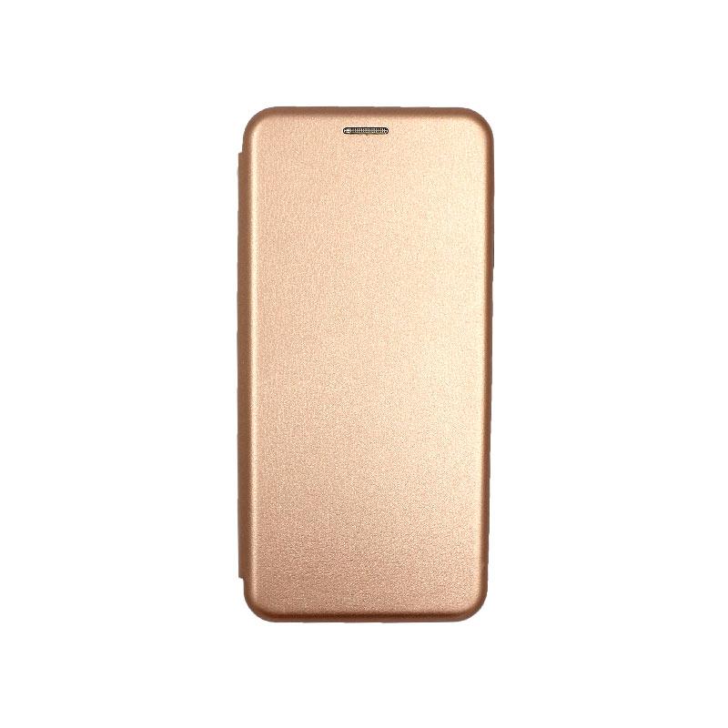 Θήκη Samsung Galaxy Note 10 Lite / A81 Πορτοφόλι με Μαγνητικό Κλείσιμο ροζ χρυσό 1