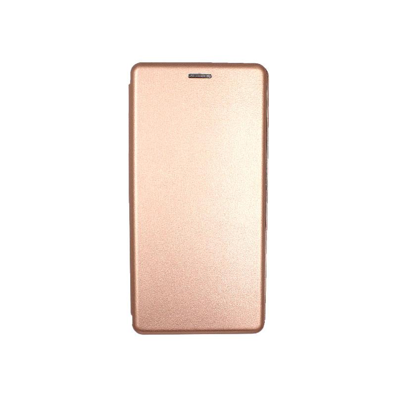 Θήκη Samsung Galaxy Note 10 Plus Πορτοφόλι με Μαγνητικό Κλείσιμο ροζ χρυσό 1