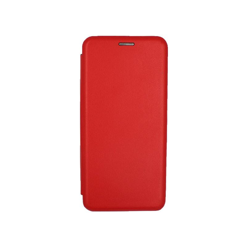 Θήκη Samsung Galaxy Note 10 Plus Πορτοφόλι με Μαγνητικό Κλείσιμο κόκκινο 1