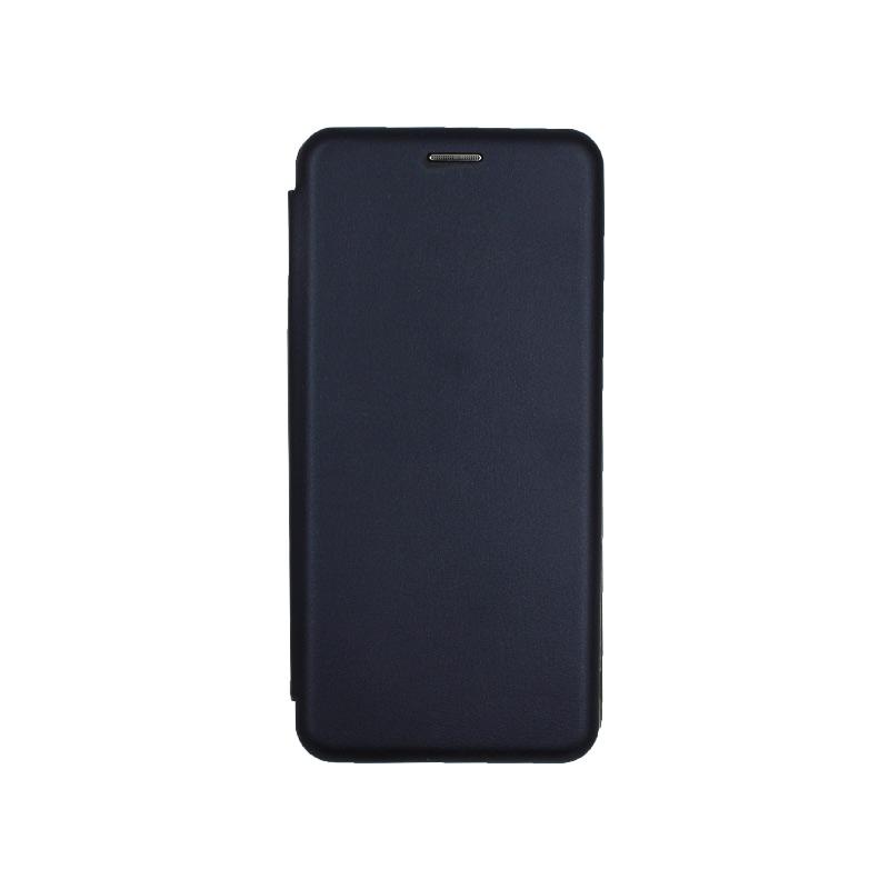 Θήκη Samsung Galaxy Note 10 Plus Πορτοφόλι με Μαγνητικό Κλείσιμο σκούρο μπλε 1