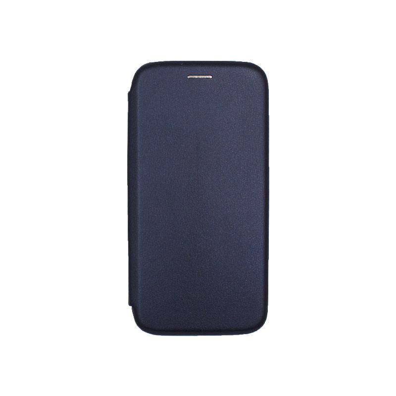 Θήκη Samsung Galaxy A6 Πορτοφόλι με Μαγνητικό Κλείσιμο σκούρο μπλε 1