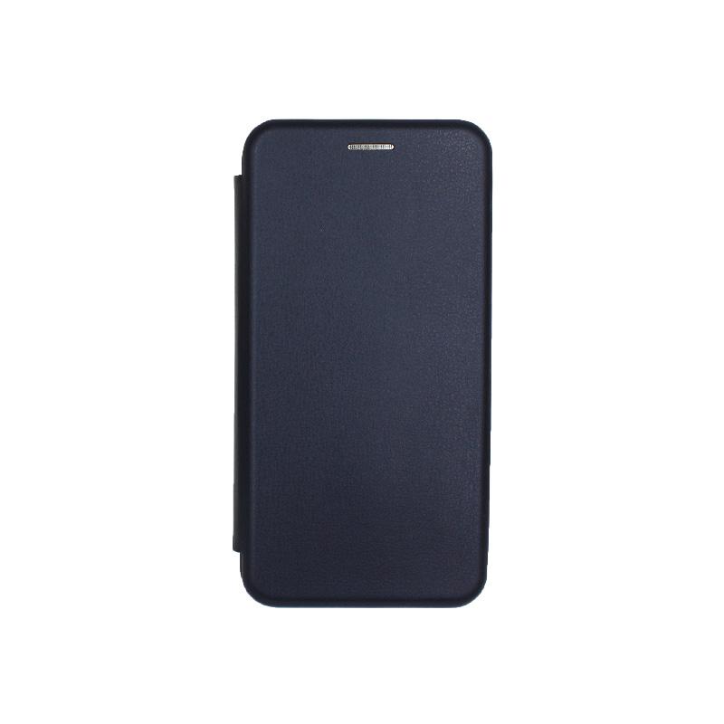 Θήκη Samsung Galaxy A40 Πορτοφόλι με Μαγνητικό Κλείσιμο σκούρο μπλε 1