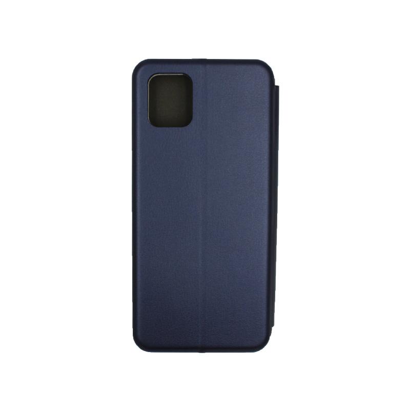 Θήκη Samsung Galaxy Note 10 Lite / A81 Πορτοφόλι με Μαγνητικό Κλείσιμο σκούρο μπλε 2