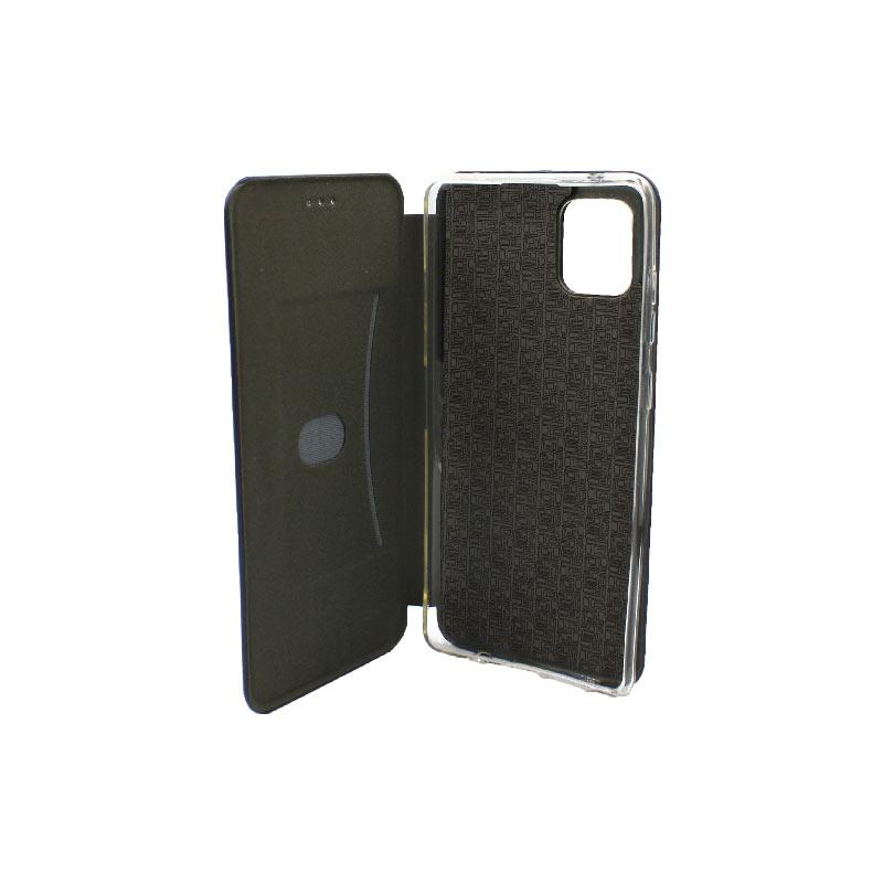 Θήκη Samsung Galaxy Note 10 Lite / A81 Πορτοφόλι με Μαγνητικό Κλείσιμο σκούρο μπλε 3