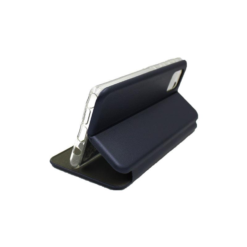Θήκη Samsung Galaxy Note 10 Lite / A81 Πορτοφόλι με Μαγνητικό Κλείσιμο σκούρο μπλε 4