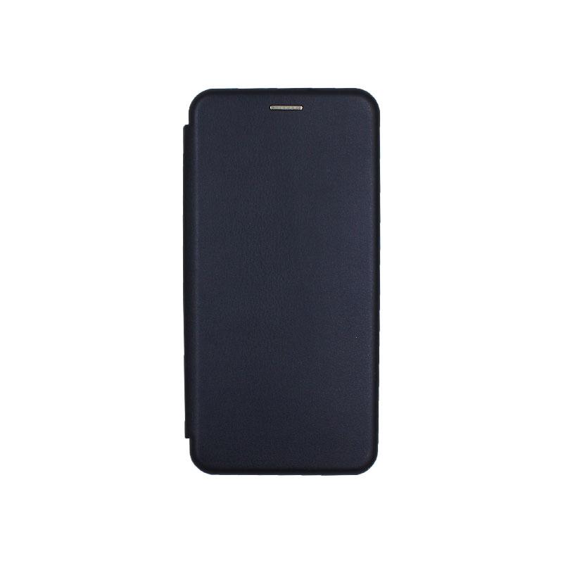 Θήκη Samsung Galaxy J6 Plus Πορτοφόλι με Μαγνητικό Κλείσιμο σκούρο μπλε 1