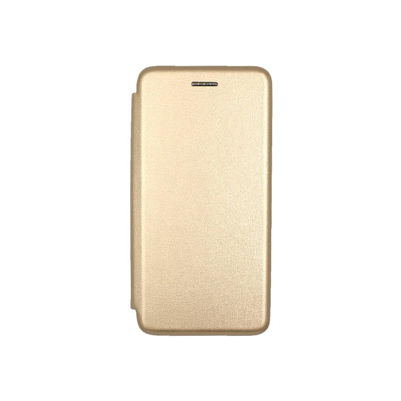 Θήκη Samsung Galaxy A10e / A20e Πορτοφόλι με Μαγνητικό Κλείσιμο χρυσό 1