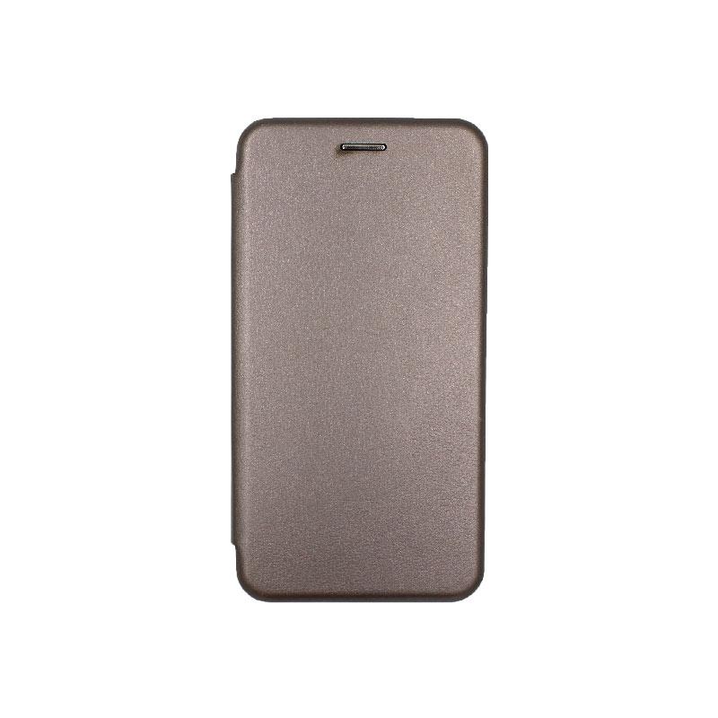 Θήκη Samsung Galaxy Note 10 Πορτοφόλι με Μαγνητικό Κλείσιμο γκρι 1