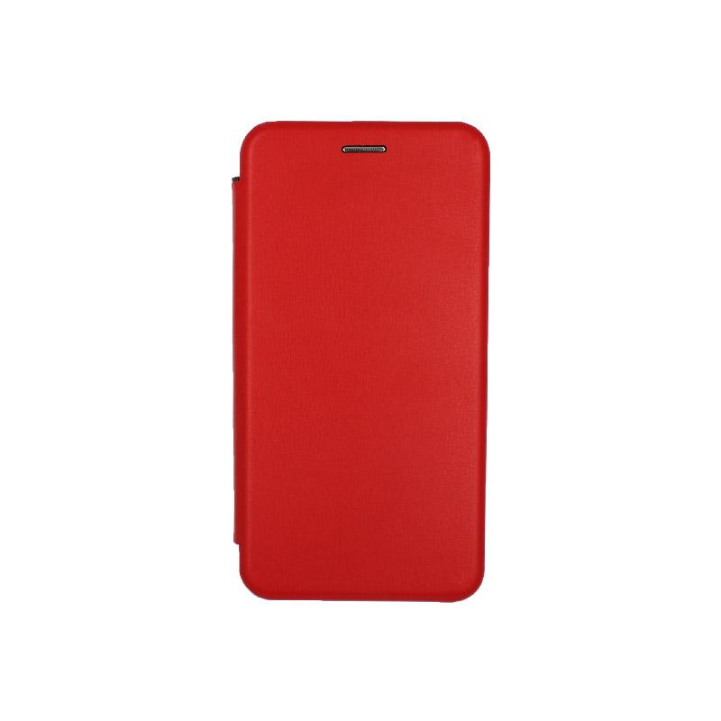 Θήκη Samsung Galaxy Note 10 Πορτοφόλι με Μαγνητικό Κλείσιμο κόκκινο 1