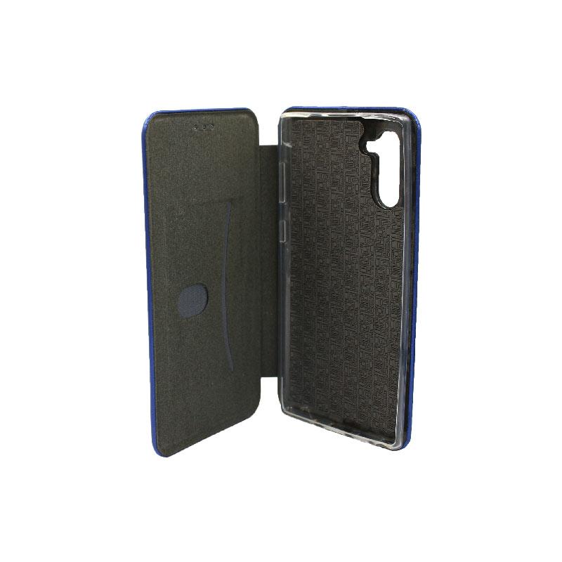 Θήκη Samsung Galaxy Note 10 Πορτοφόλι με Μαγνητικό Κλείσιμο μπλε 3