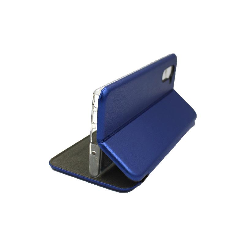 Θήκη Samsung Galaxy Note 10 Πορτοφόλι με Μαγνητικό Κλείσιμο μπλε 4