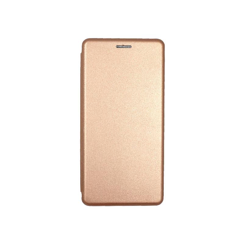 Θήκη Samsung Galaxy Note 10 Πορτοφόλι με Μαγνητικό Κλείσιμο ροζ χρυσό 1