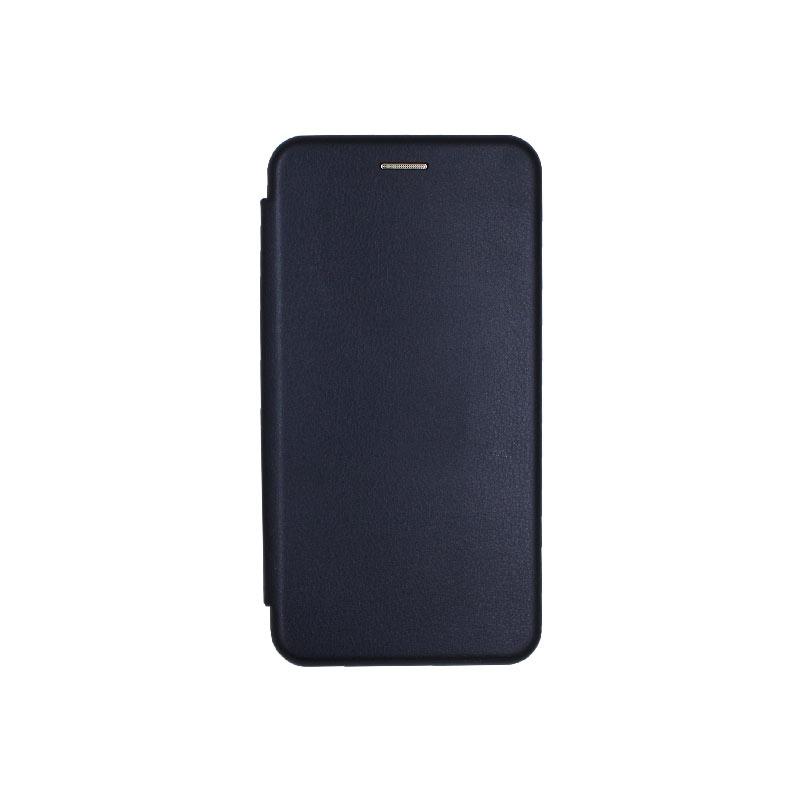Θήκη Samsung Galaxy Note 10 Πορτοφόλι με Μαγνητικό Κλείσιμο σκούρο μπλε 1