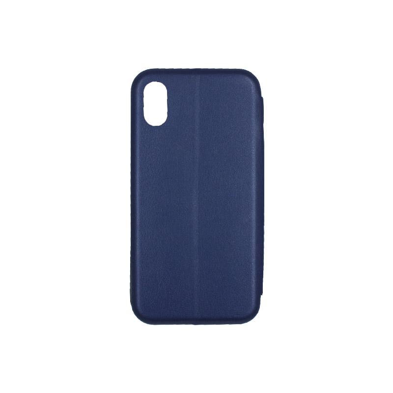 θήκη iphone X / Xs / XR / Xs Max πορτοφόλι μπλε 4