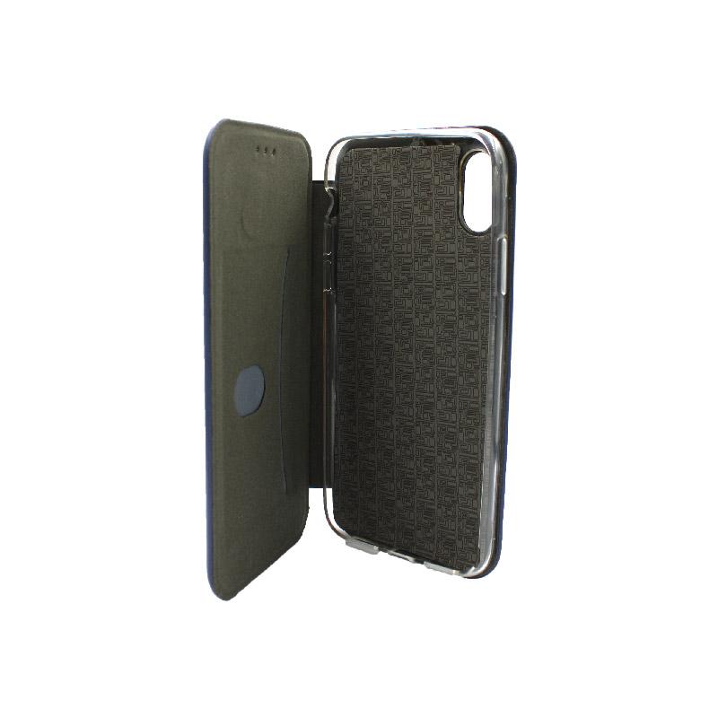 θήκη iphone X / Xs / XR / Xs Max πορτοφόλι μπλε 3