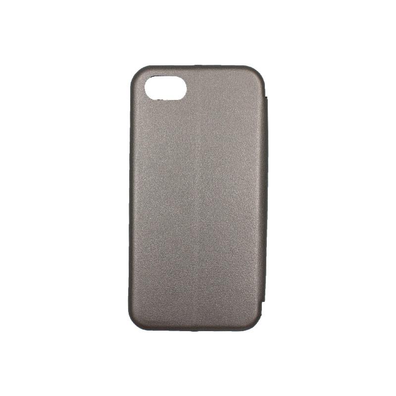 θήκη iphone 7 / 8 πορτοφόλι γκρι 2